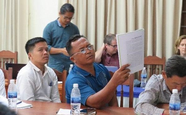 Policy briefs were intensively examined and discussed in the Kratie workshops