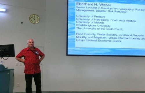Introduction by Dr Eberhard Weber, USP, Fiji