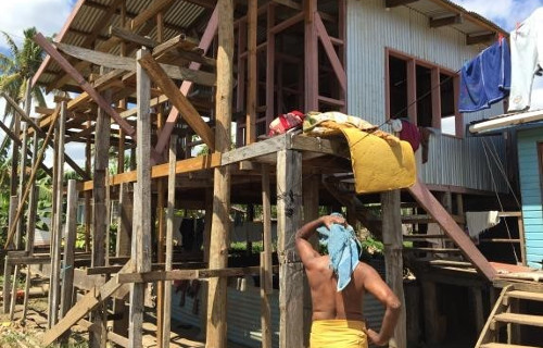 Building a two-storey house is a common flood adaptation strategy in Votua community