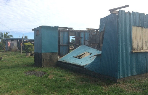 Home in Votua community destroyed by Tropical Cyclone Winston