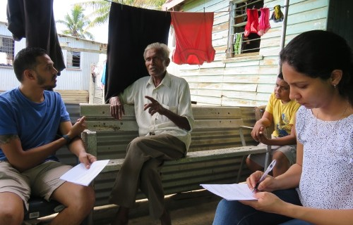 Interview in an Indo-Fijian household in the Votua neighbourhood