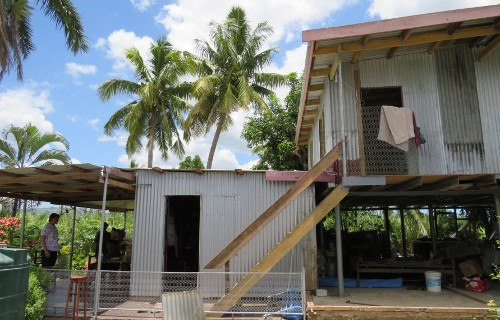 Several Fijians of Indian origin have built elevated homes as flood adaptation measures