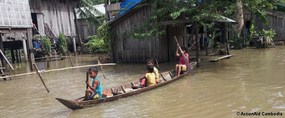 Flooded Communities in Prek Prasob, Kratie Province, Cambodia